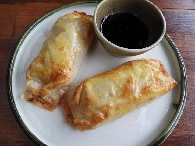 Brie Strudel with blueberry jam