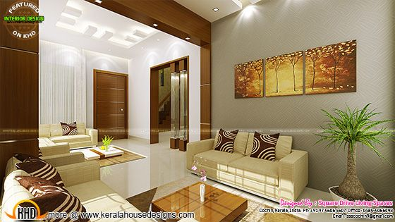 Living room interior, Kerala