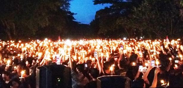 Aksi Bela Ahok dengan 1000 Lilin di Renon Denpasar, Ini yang Malah Terjadi..