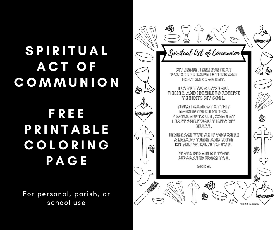 - Spiritual Act Of Communion Free Coloring Page