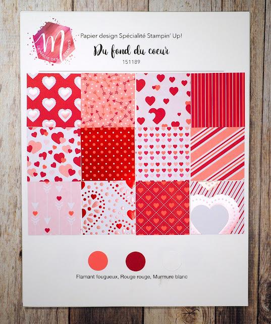 Papier design Du fond du coeur, Stampin' Up! mini catalogue 2020