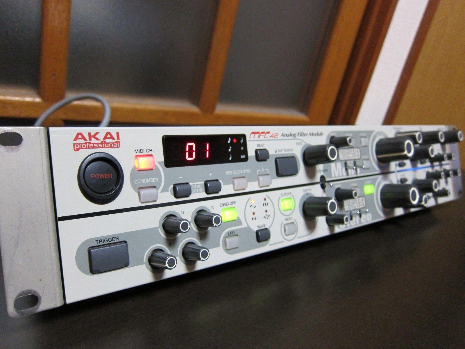 matrixsynth  akai mfc42 analog filter module sn b0115