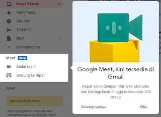 Google Meet Kini Tersedia di Gmail, Ini Cara Menggunakannya