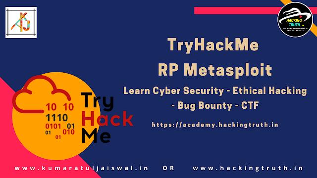 TryHackeMe RP  Metasploit walkthrough