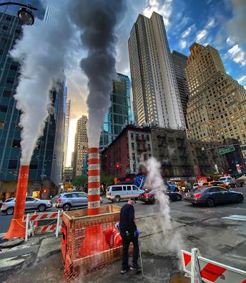 Underground steam on East 43rd Street