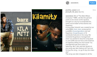 Sugarboy And Kiss Daniel Are Thieves - The Silent Music Comapany