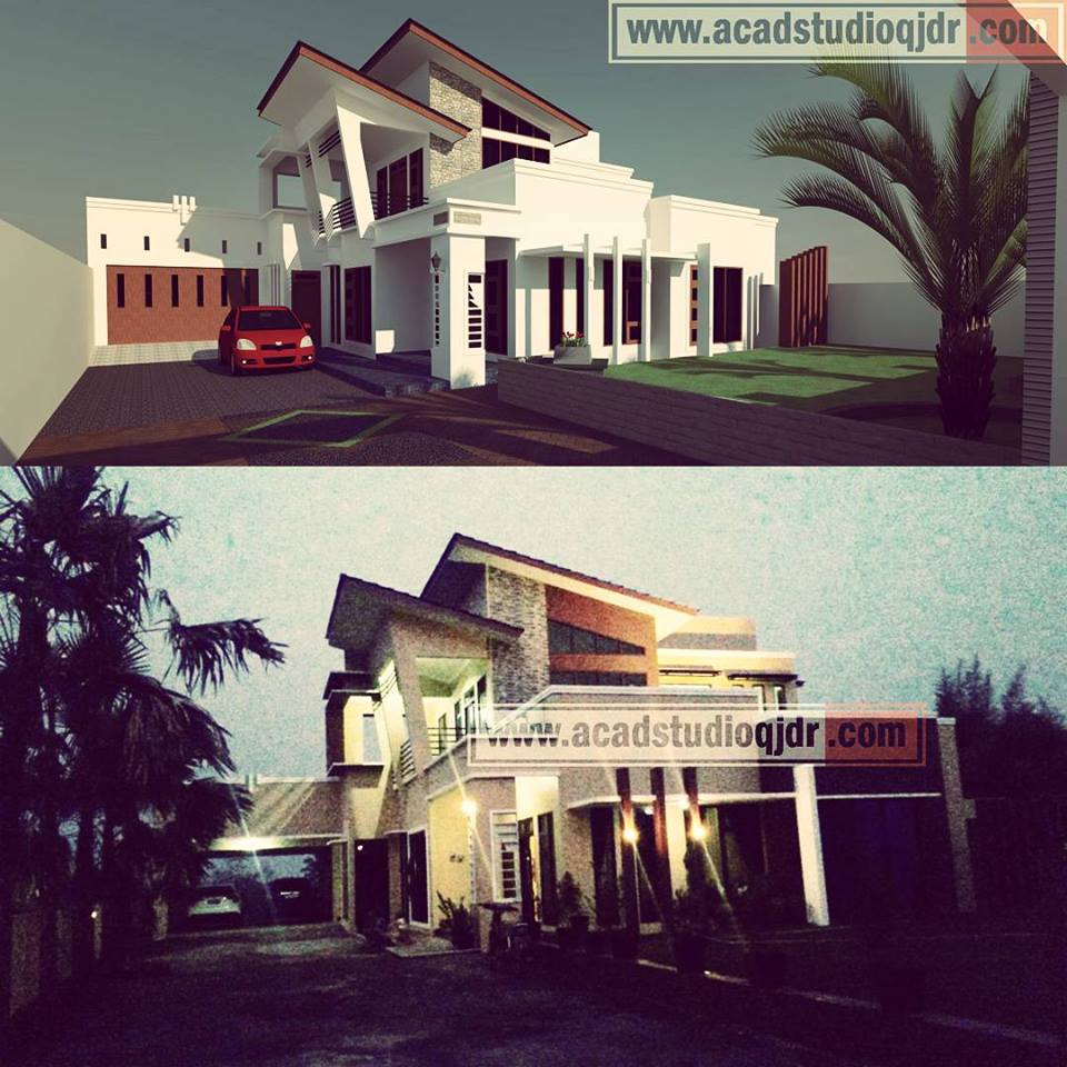 Contoh Karya Jasa Desain Rumah: Desain Rumah Ibu Dr. Novita Sabjan