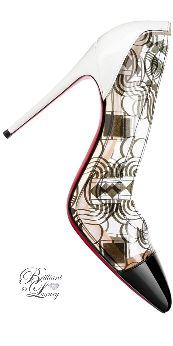 Brilliant Luxury ♦ Christian Louboutin Debut Patent PVC pumps in black and white