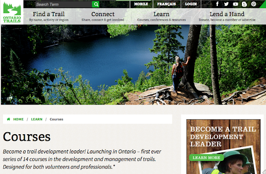 Ontario Trail Council - Trail Education Courses and Trail Counts Program