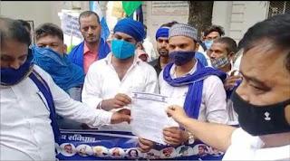 भीम आर्मी व आजाद समाज पार्टी ने सौंपा ज्ञापन | #NayaSaberaNetwork