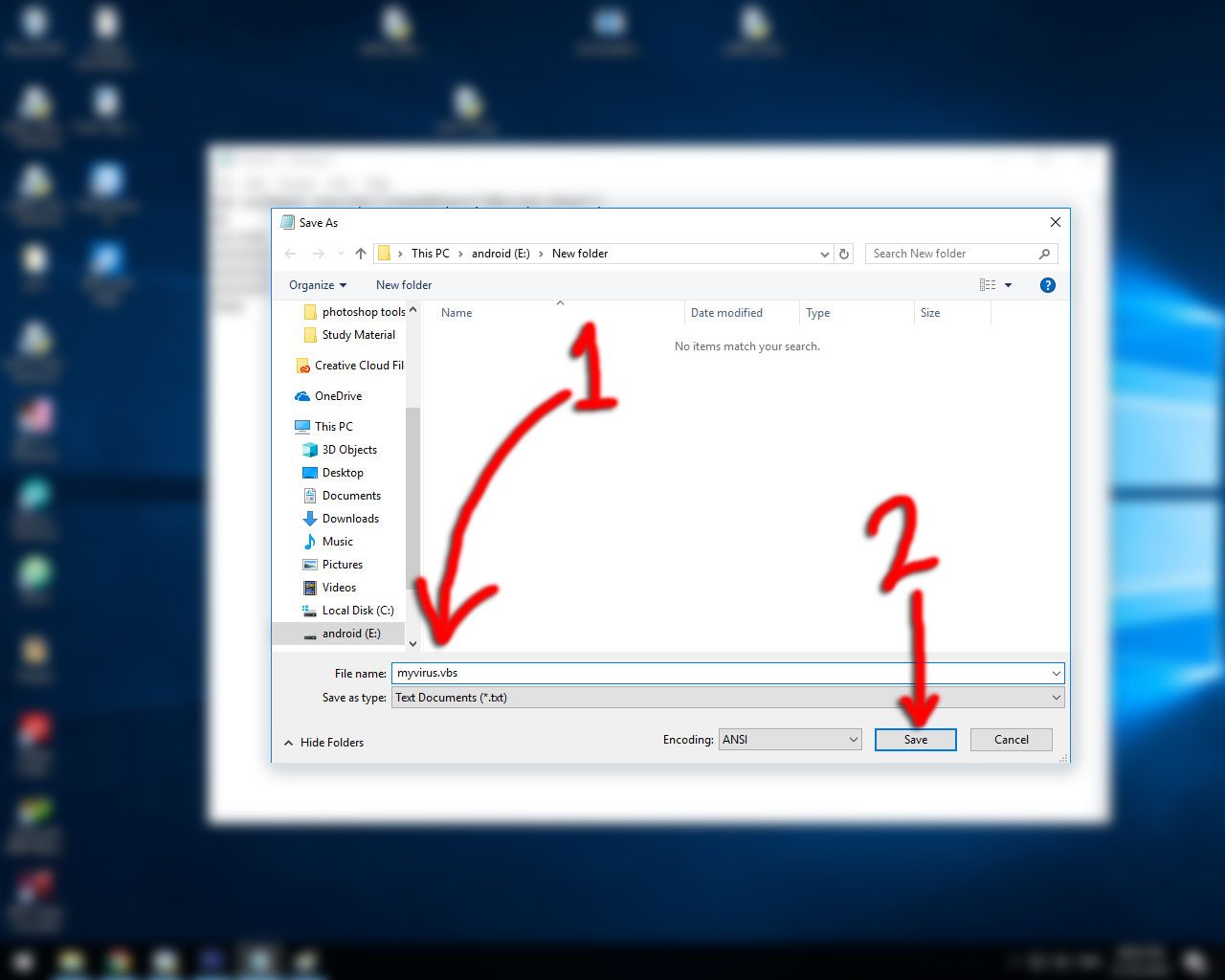 how to make Fake Error Message Script in Windows