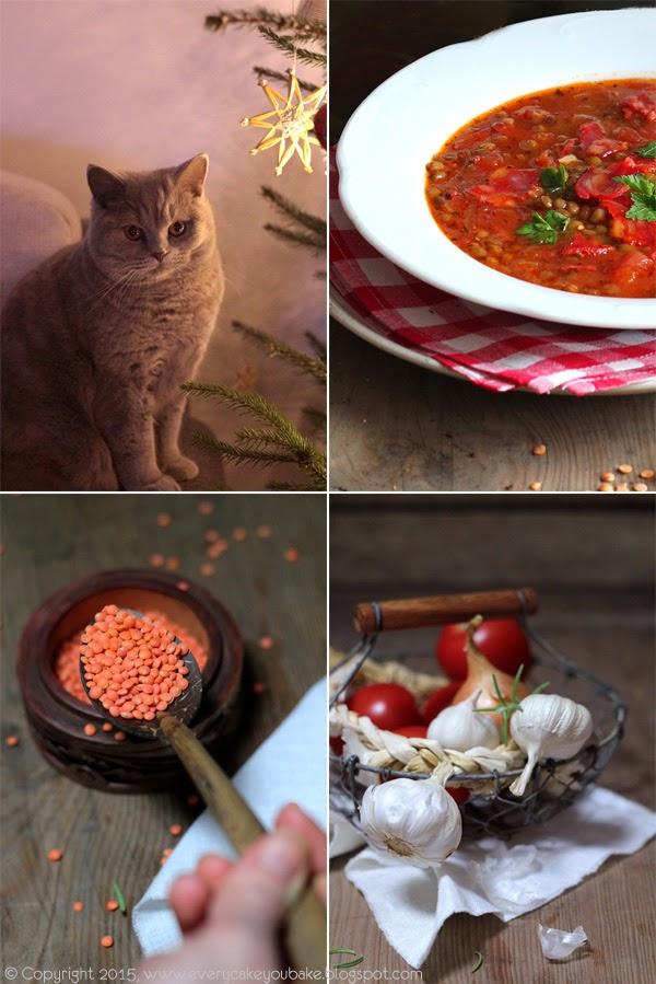 zupa z czerwonej soczewicy z pikantną kiełbasą chorizo