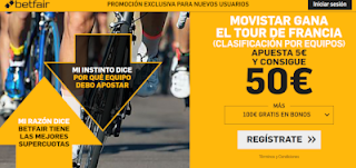 betfair supercuota Movistar gana la clasificación por equipos Tour 2019