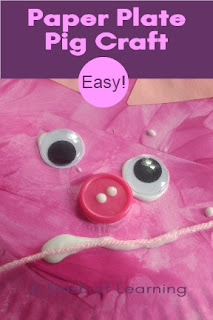 Easy Paper Plate Pig Craft