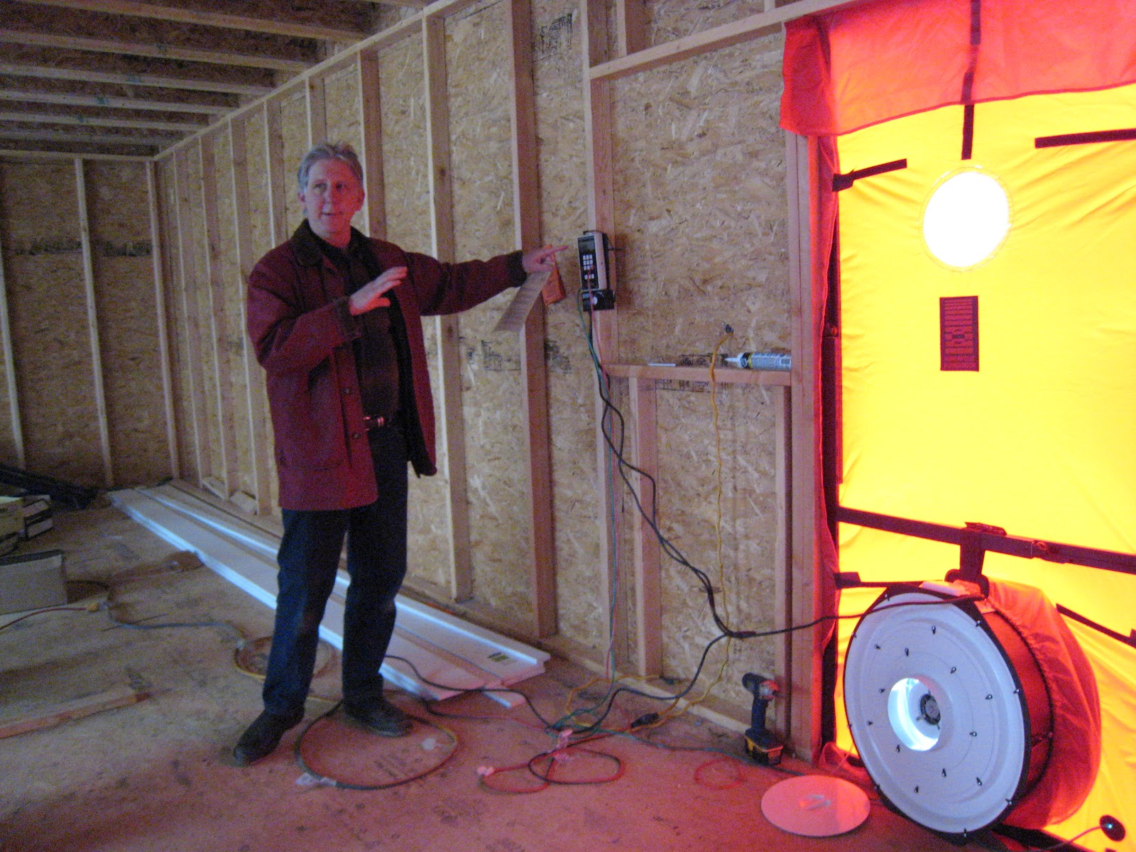 our connecticut passive house smokin 39 the first blower door test. Black Bedroom Furniture Sets. Home Design Ideas