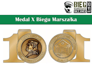 Medal X Biegu Marszałka 2017