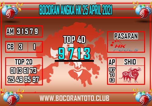 Bocoran Syair HK 25 April 2021