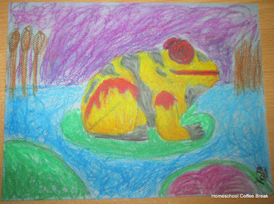 Hawaiian Frog on the Virtual Refrigerator art link-up hosted by Homeschool Coffee Break @ kympossibleblog.blogspot.com