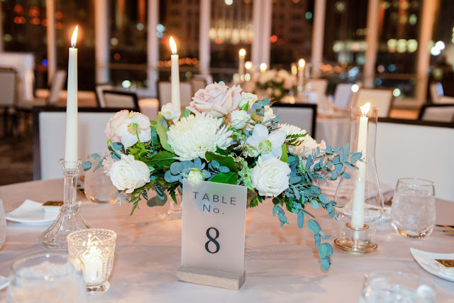 short centerpieces with candles