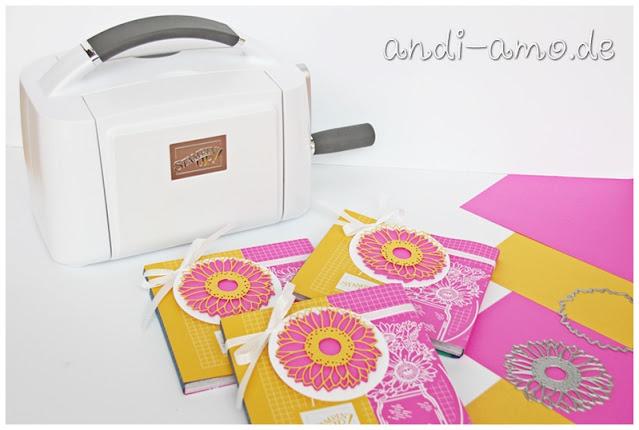 Stampin Up Stanz- und Prägemaschine Stanzformen Sonnenblumen