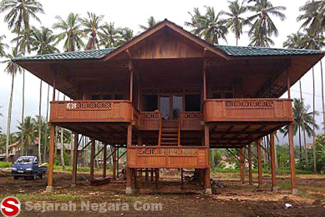 Gambar Rumah adat Minahasa Sulawesi Utara