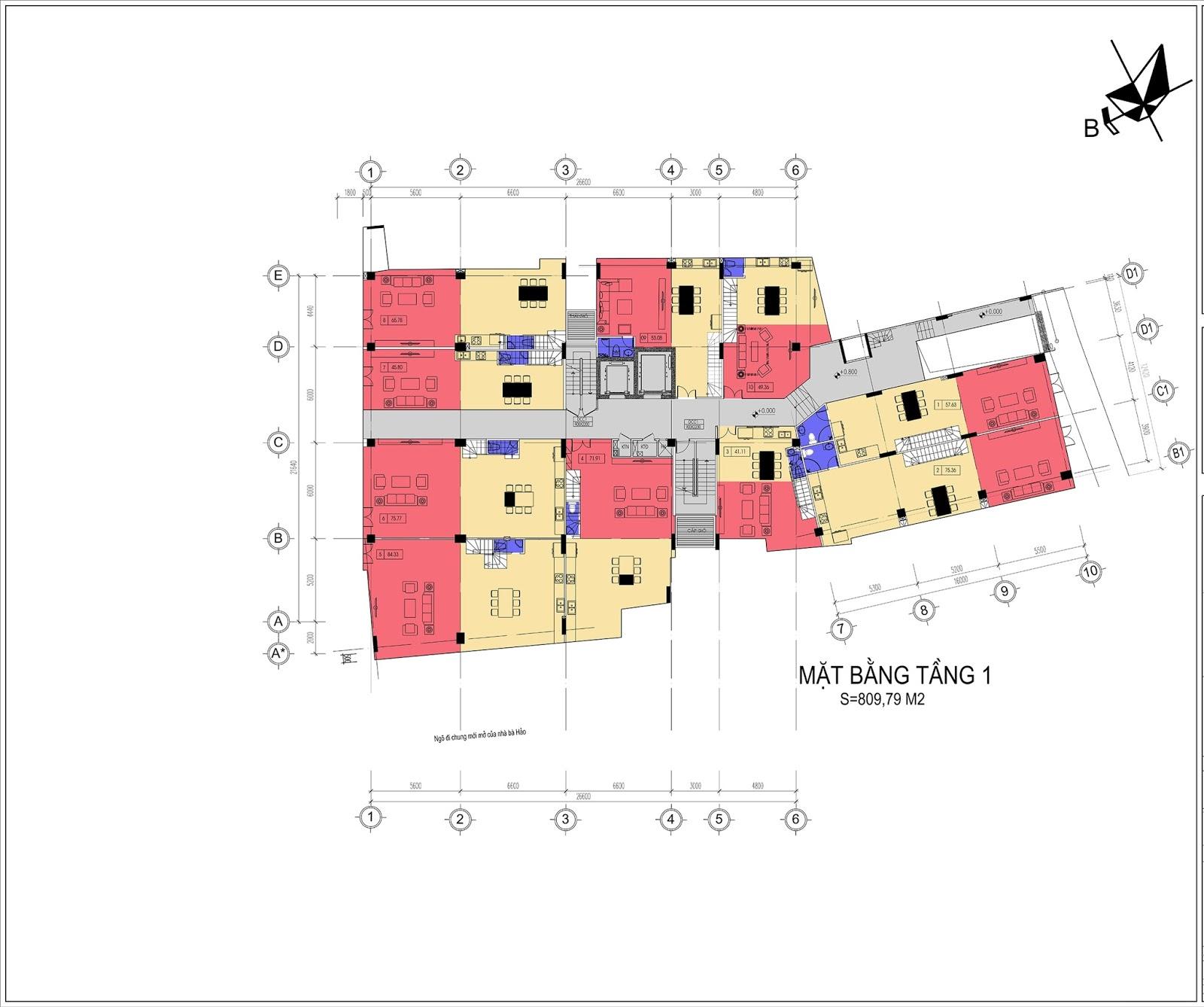 thiết kế hiện đại tạo nên phong cách sống khác biệt của dự án Núi Trúc Square