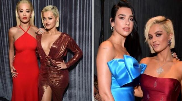 Bebe Rexha con Rita Ora e Dua Lipa