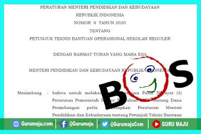 Juknis BOS Tahun 2020 (Permendikbud Nomor 8 Tahun 2020)