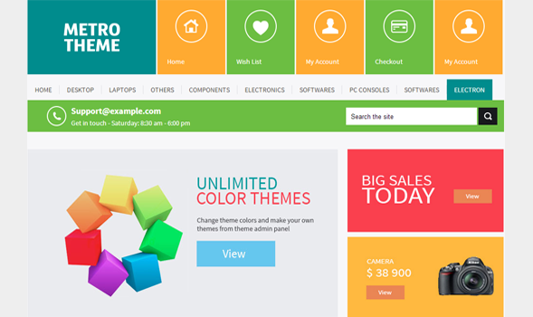 Metro UI blogger template - blogger template world