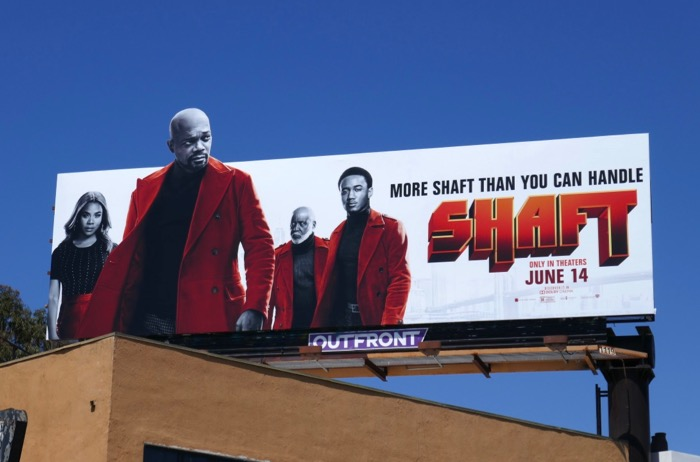 Shaft movie extension cut-out billboard