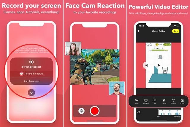 أفضل تطبيقات تسجيل الشاشة للايفون