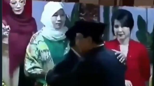 Prabowo Cuekin Grace Natalie yang Hendak Salaman saat Pelantikan Jokowi