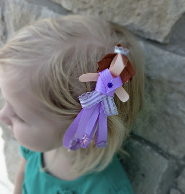 Sofia the First Ribbon Sculpture Hair Clip | The TipToe Fairy #ribbonsculpture #hairclip #disney #sofiathefirst