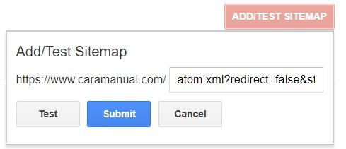 Cara Submit Sitemap ke Google Webmaster 2