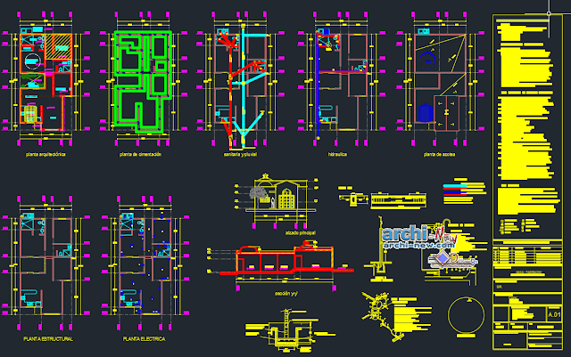 House-room housing plan off in AutoCAD