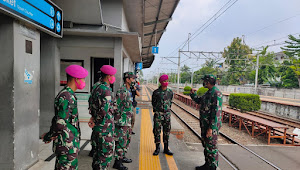 Dandim 0503/JB Berikan Arahan Di 9 Stasiun Se Jakarta Barat