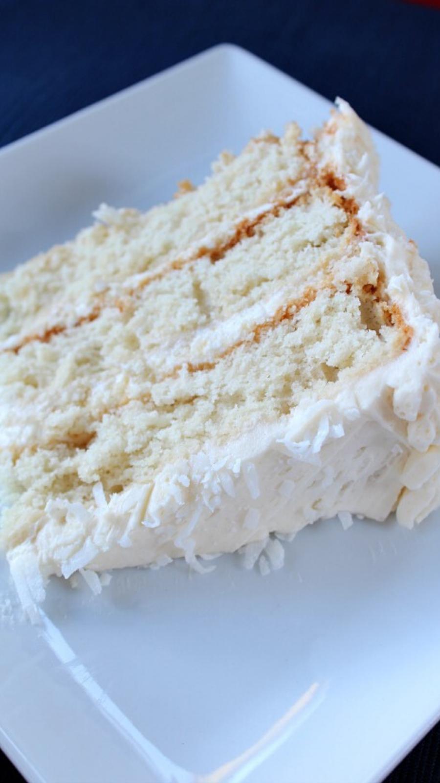 homemade whipped cream white cake