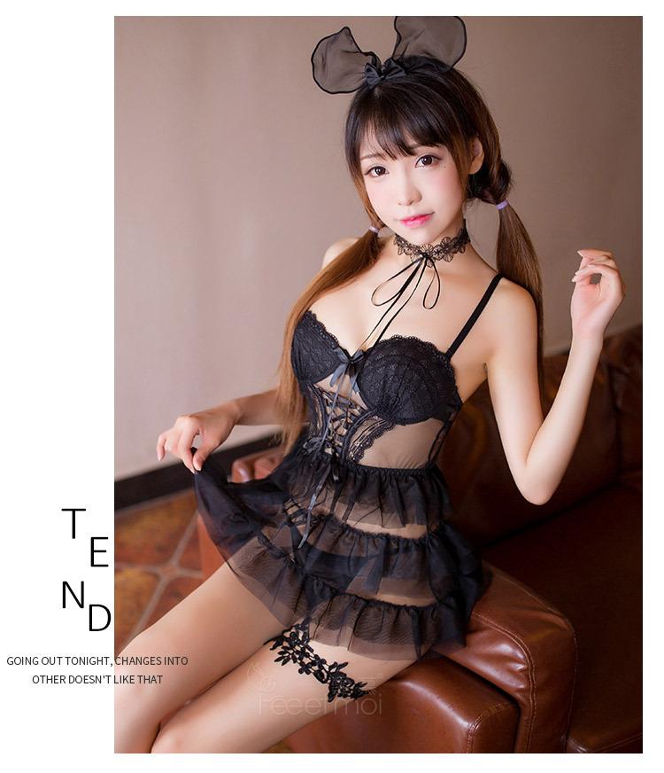 Đầm ngủ mút ngực hotgirl quyến rũ 1