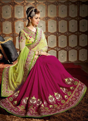 Stylish-indian-embroidered-bridal-saree-2017-for-brides-6