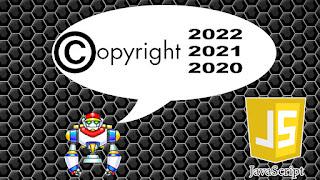 Como Fazer #Copyright com #JavaScript para o Ano Atualizar Automaticamente