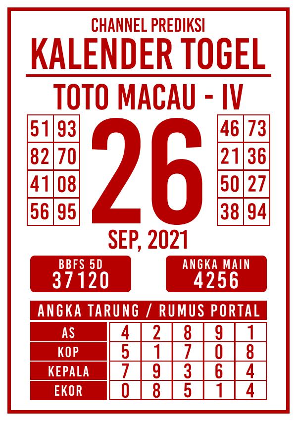Prediksi Kalender Toto Macau IV