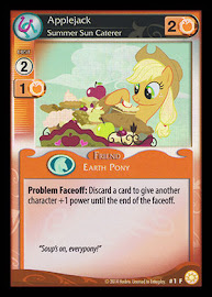 My Little Pony Applejack, Summer Sun Caterer Celestial Solstice CCG Card