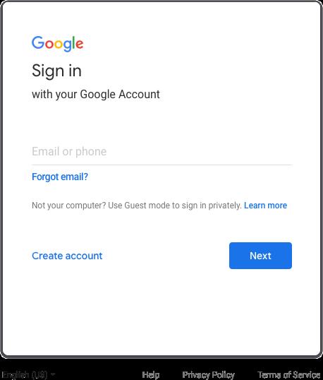 google ログイン