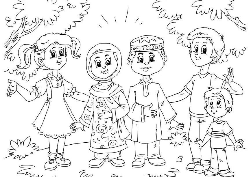 Contoh Gambar Untuk Mewarnai Anak Muslim Terbaru Gambar Mewarnai