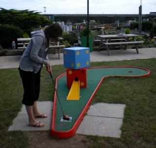 Crazy Golf at the Merrivale in Great Yarmouth