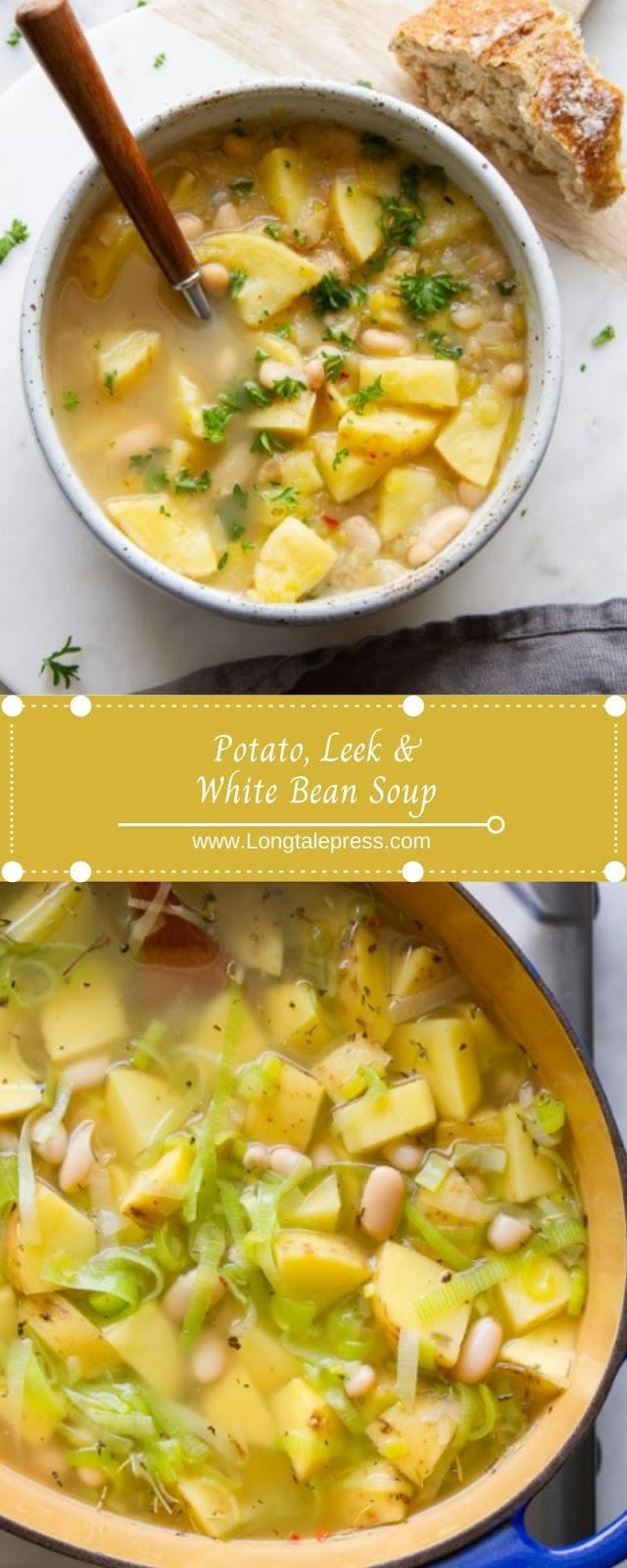 Potato, Leek & White Bean Soup