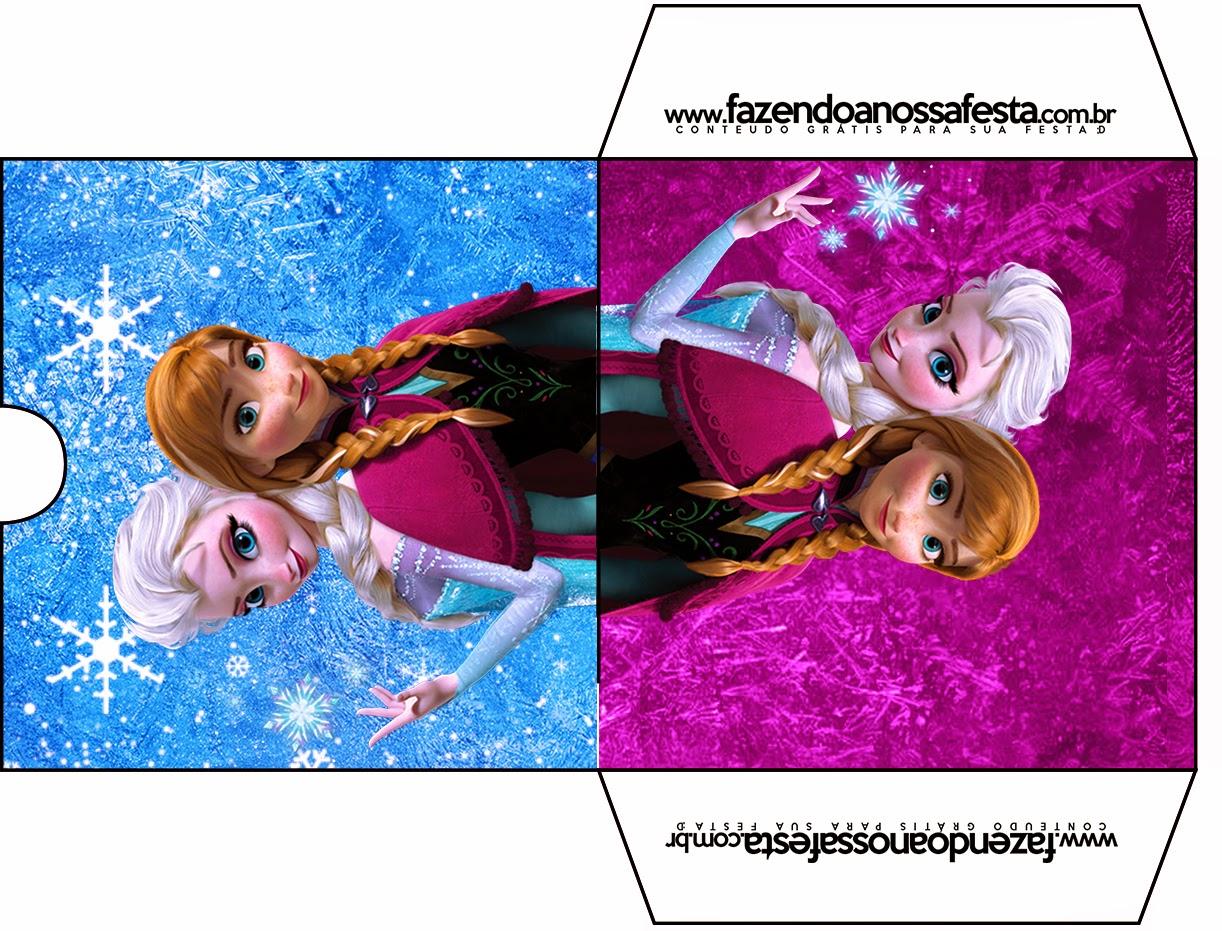 Funda de Frozen Azul y Purpura para CD's para imprimir gratis.