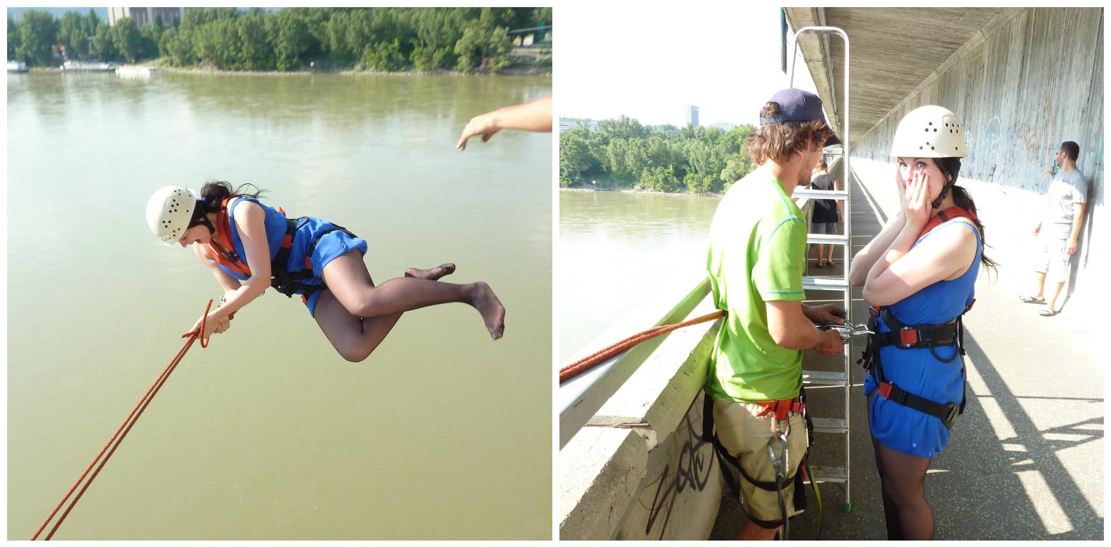 skok z mosta