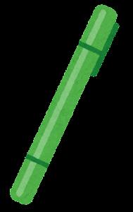 マーカーのイラスト(緑)