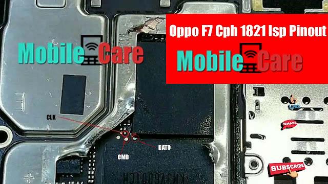 OPPO F7 CPH1821 ISP PINOUT